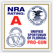 Kevin Ambler  A-RATING from NRA and PRO-GUN RATING from the Unified Sportsman of Florida